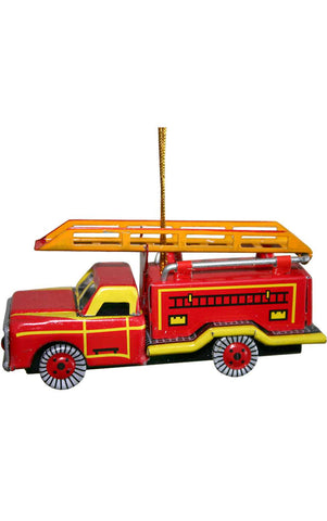 Collectible Tin Ornament - Fire Truck