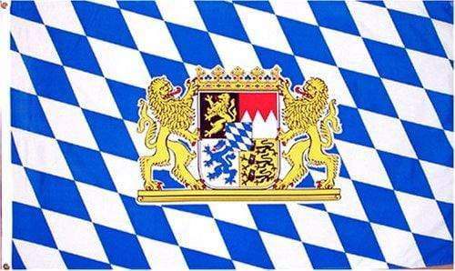Bavarian Flag with Crest