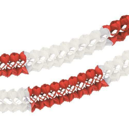 10 Meter Red & White Garland| MyDirndl.Com™