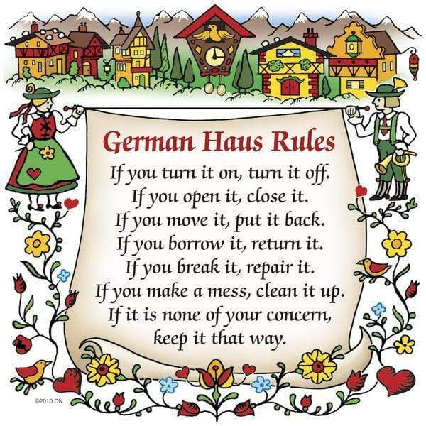 magnet- German House Rules