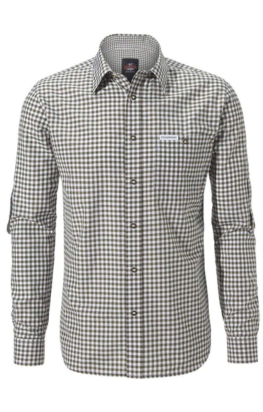 Egon Reed Green Modern Fit Men's Shirt| MyDirndl.Com™