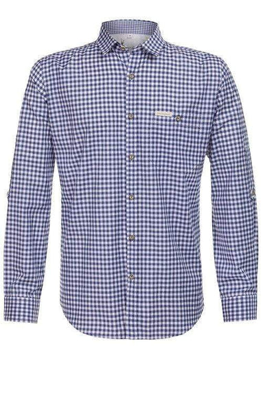 Julius -Blue men's Lederhosen shirt