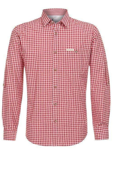 Kai -Red men's Lederhosen shirt