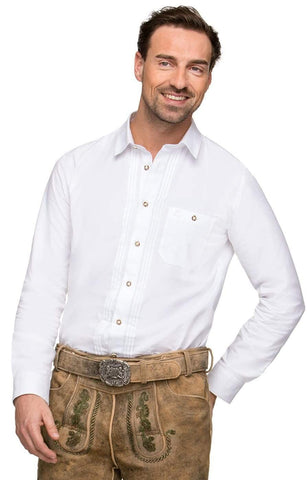 Dietmar White traditional men's  shirt| MyDirndl.Com™