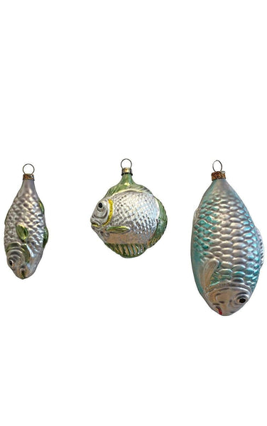 Assorted Glass Fish set of 3