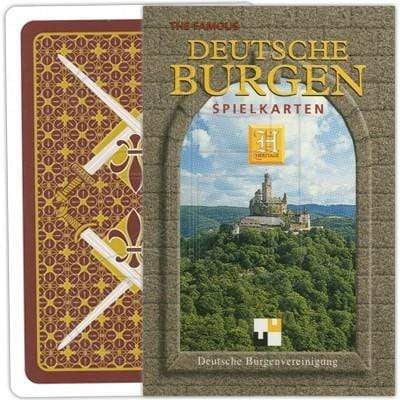 playing cards featuring German Mountains