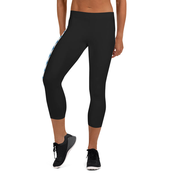 Women's Bavarian Capri Black Leggings