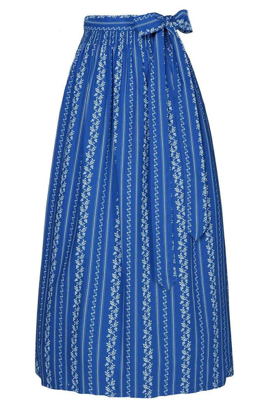Blue long dirndl apron