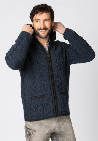 Sonntagshorn With Hood Men's Sweater Jacket