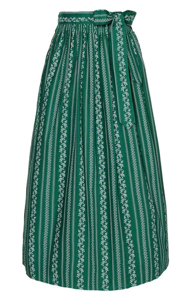 Fir Green long dirndl apron