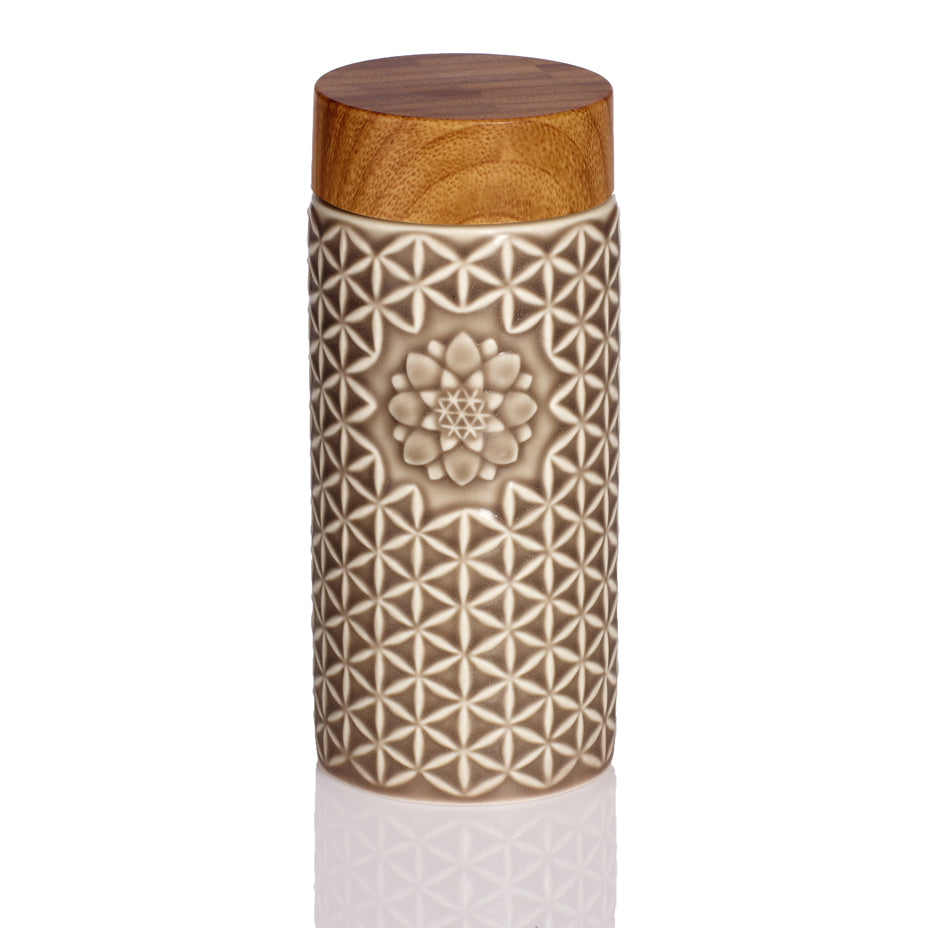 Flower of Life Travel Mug ( Mocha Brown)