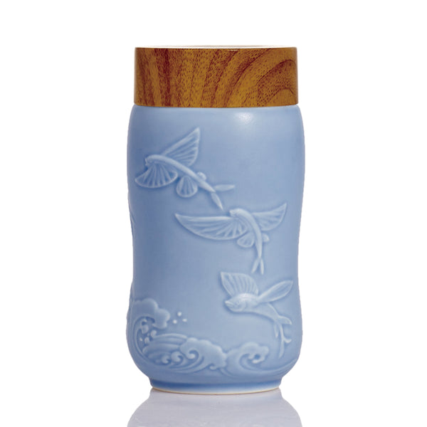 The Joy of Fishes Travel Mug ( Single Wall )
