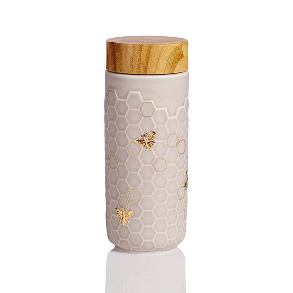 Honey Bee Travel Mug / Gold