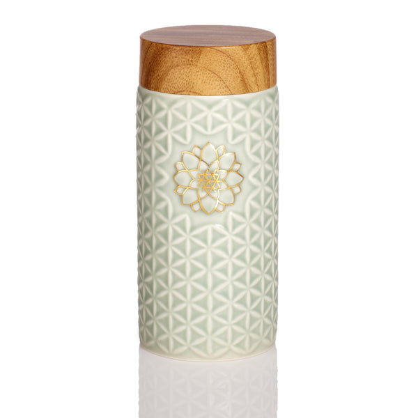 Flower of Life Travel Mug / Gold