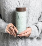Jade Leaves Tea Tumbler