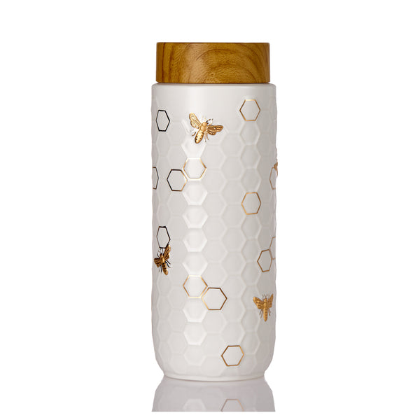 Honey Bee Travel Mug / Gold 16 oz ( New Arrival ! )