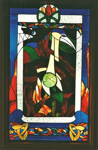 Sold, Front Door Celtic Theme Panel, Custom work