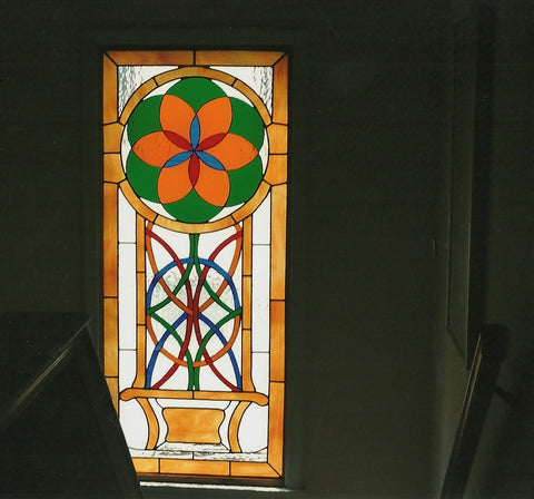 Sold, Stairway landing window, Celtic theme, Custom work