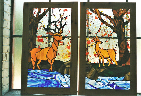 Sold, Deer Wildlife Cabinet Doors, Custom work