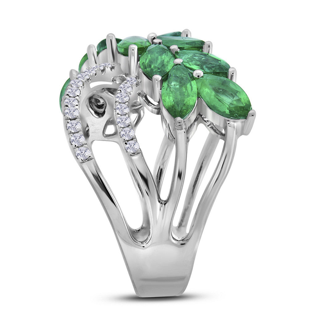 online and shop auctions earrings emerald drop diamond copy in