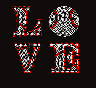 Custom Baseball Love Bling Design