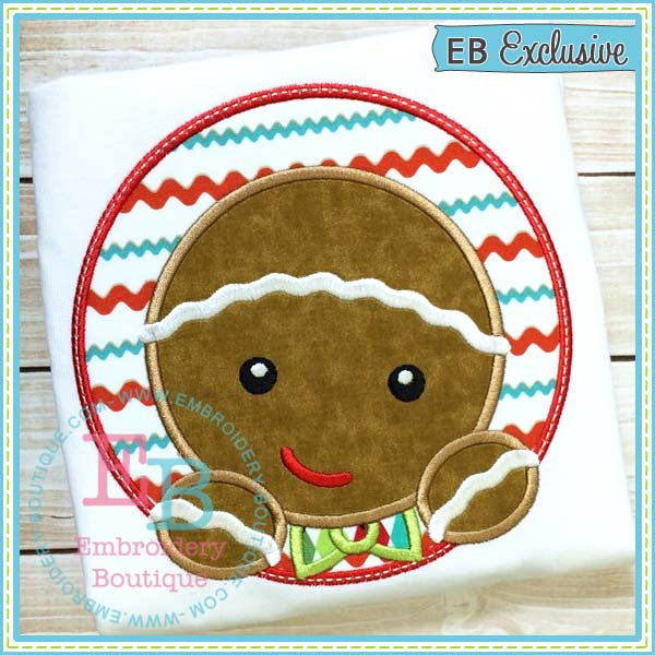 Custom Gingerbread Boy Applique Design