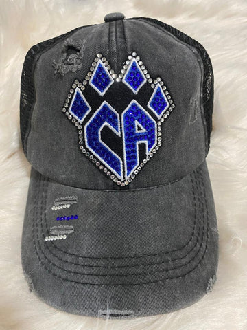 Cheer Athletics Rhinestone Ponytail Hat