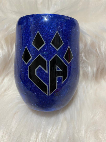 Cheer Athletics Black Glitter Tumbler