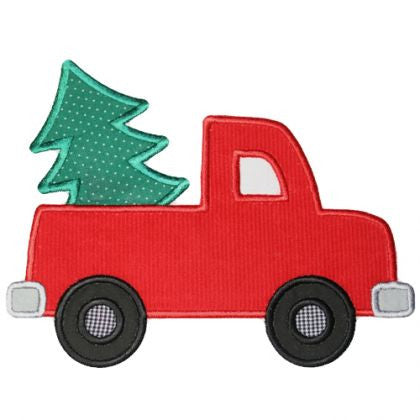 Custom Christmas Tree Truck Applique Design