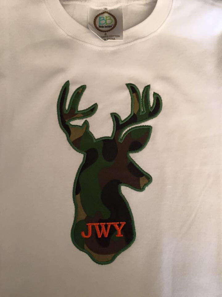 Custom Deer Silhouette Applique Design