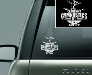 """Split"" Gymnastics Vinyl Decal"