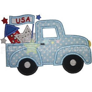 Custom Patriotic Truck Applique Design