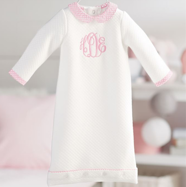 Mud Pie Pink Quilted Gown