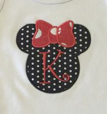 Custom Minnie Mouse Applique Design