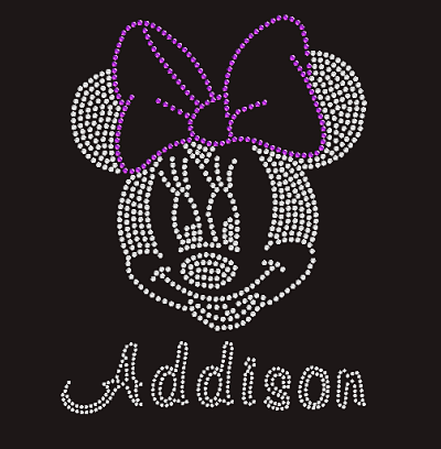 Minnie Mouse Bling Design