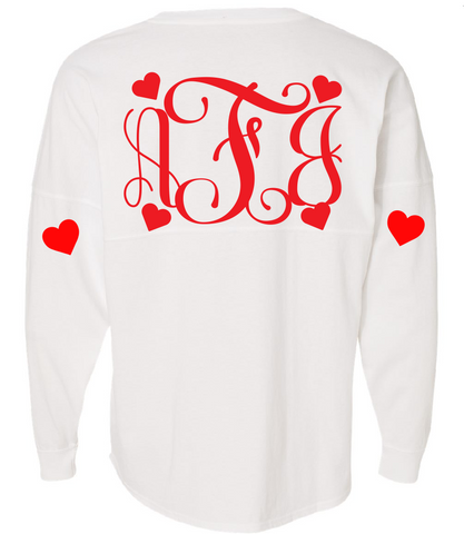 Queen Hearts Over Sized Spirit Jersey