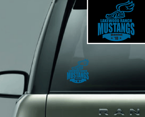 """Wings"" Running Vinyl Decal"