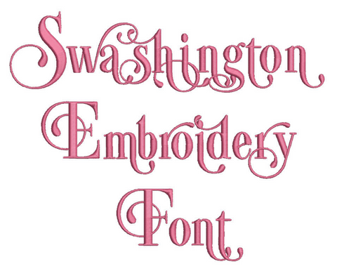 Swashington Embroidery Font