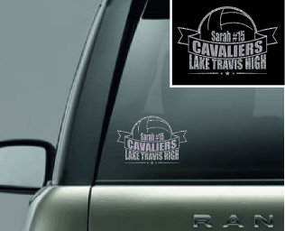 "'Volleyball"" Vinyl Decal"