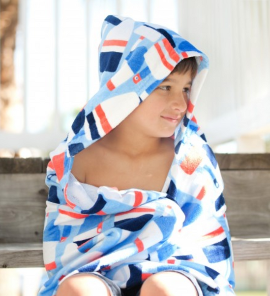 Oh Buoy Kids' Hooded Towel