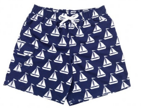 Sail Boat Swim Trunks