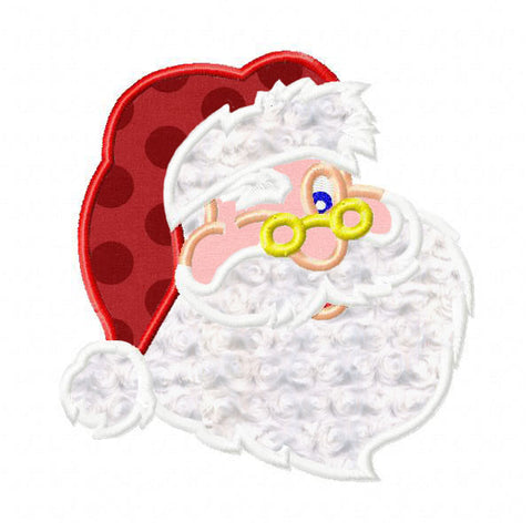 Custom Winking Santa Applique Design