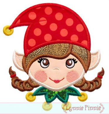 Custom Elf Girl Applique Design