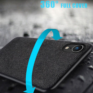 Luxury Fabric Protective Case For iPhone XR