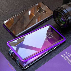2019 Magnetic Metal Bumper Full Tempered Glass Cover For Samsung Galaxy Note 9