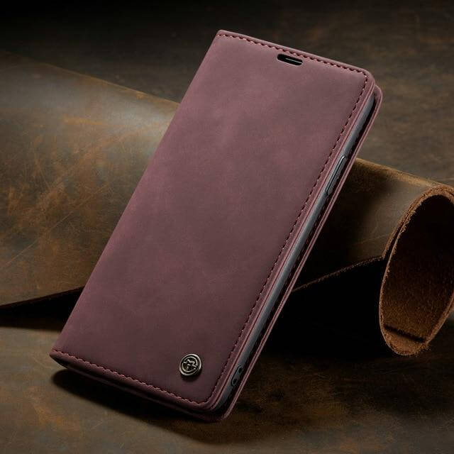 Luxury Leather Flip Wallet Cases For iPhone 11 Series