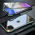 Luxury Double Sided Glass Magnetic Case For iPhone 11 Series