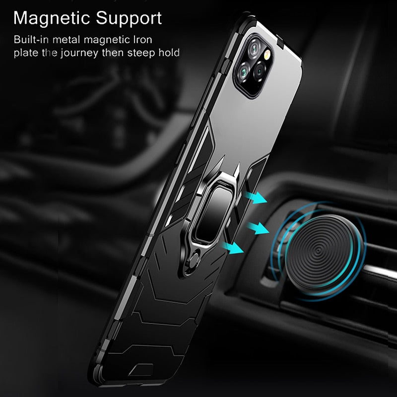 Metal Ring Holder Shockproof Case For iPhone 11/11 Pro/11 Pro Max