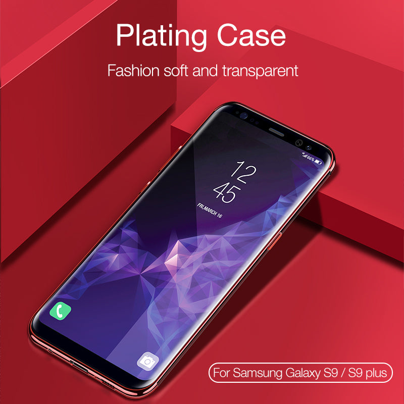 Luxury Transparent Plating TPU Soft Case for Samsung S9 / S9 Plus