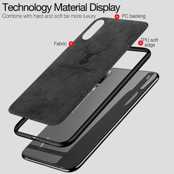 new concept eaef2 621a9 Classic Fabric Fashion Shockproof Case Huawei P20/Pro/Lite